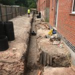 Drainage excavation